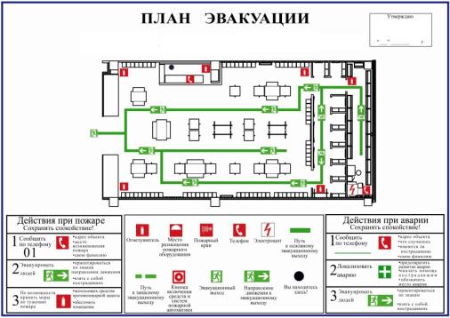 план эвакуации 10 ключ